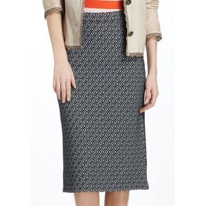 Maeve Anthropologie Intarsia Geotile Pencil Skirt